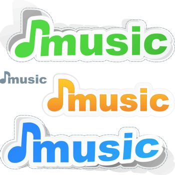 Music icon. Usable for different design.
