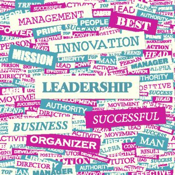 LEADERSHIP. Background concept wordcloud illustration. Print concept word cloud. Graphic collage.