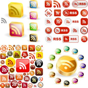 RSS icon. Usable for web design.