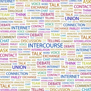INTERCOURSE. Concept illustration. Graphic tag collection. Wordcloud collage.