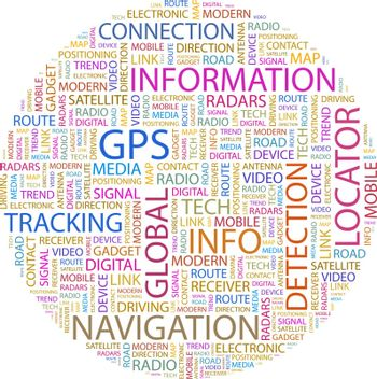 GPS. Background concept wordcloud illustration. Print concept word cloud. Graphic collage.