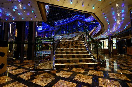 beautiful luxury colorful device on cruise ship