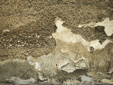 old and yellowed plaster