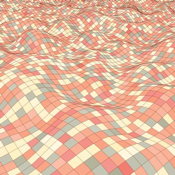 3d mosaic background. Vector illustration. Can be used for marketing, website, print and presentation.