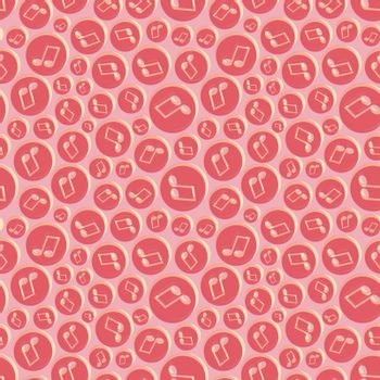 Musical seamless pattern with music notes. Abstract repeating background. Vector illustration. Wallpaper.