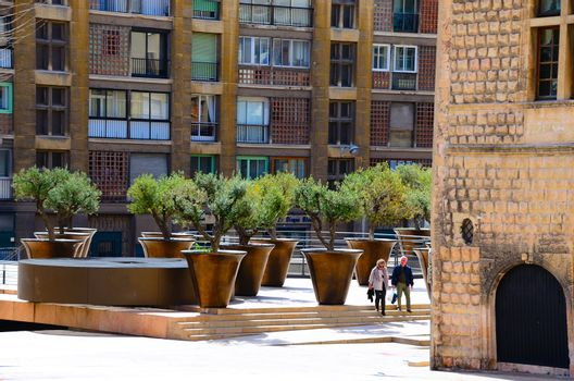 many large flower pots in marseille