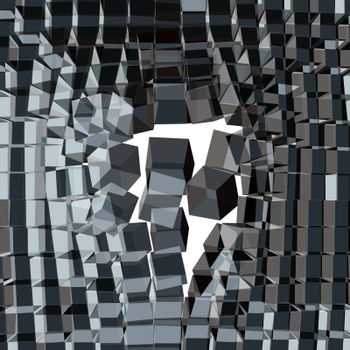 Vector Cracked Background. 3d Vector Illustration. Can Be Used For Design And Presentation.