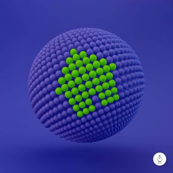 3d home icon. Vector illustration. Can be used as web sign and design element.