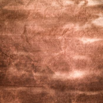 Closeup detail of old brown paper texture.