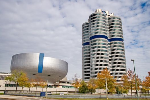 MUNICH - GERMANYOCTOBER 31: BMW building museum on June 31, 2014, Munich, Germany. The BMW Museum is located near the Olympiapark in Munich and was established in 1972 shortly before the Summer Olympics
