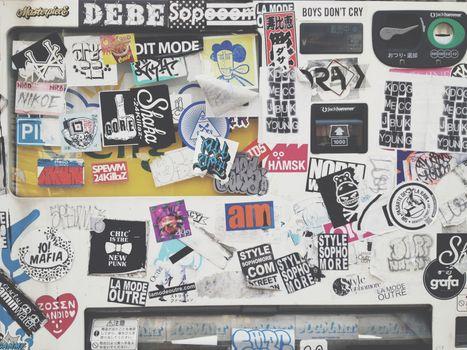 Bumper stickers and graffiti