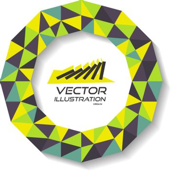 Vector illustration for design. Can be used for business presentation. With place for text.