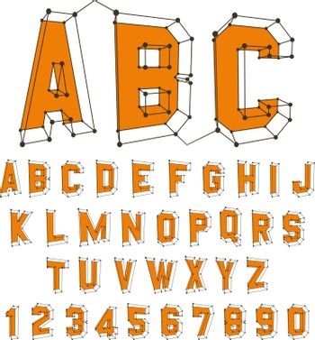 Alphabet set. 3d vector illustration. Can be used for advertising and web design.