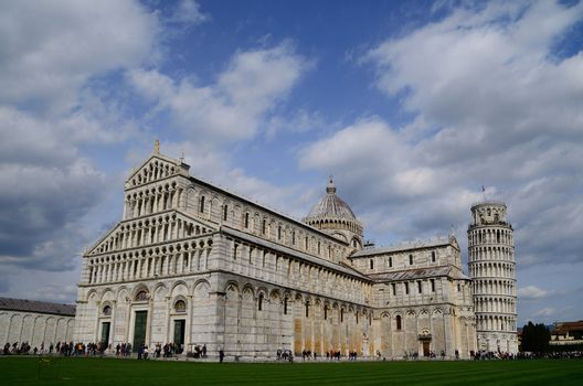 nice big cathedral and Leaning Tower of Pisa