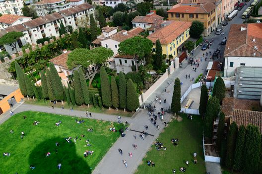 nice view from the Leaning Tower of Pisa