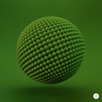 Sphere. 3d vector template. Abstract illustration. Can be used for design and presentation.
