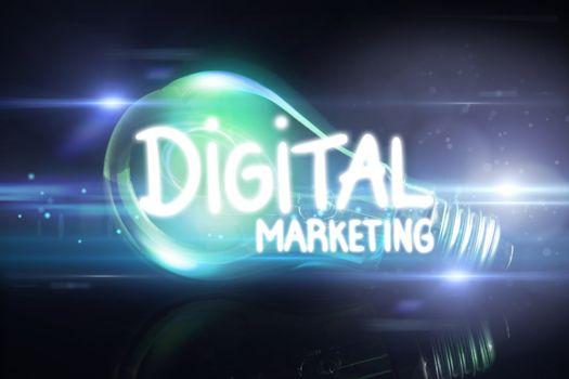 Composite image of digital marketing