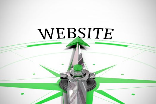 Website against compass