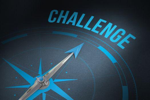 Challenge  against grey background