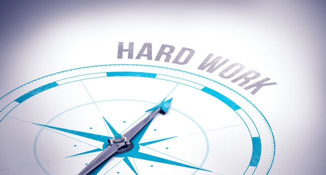 Hard work against compass