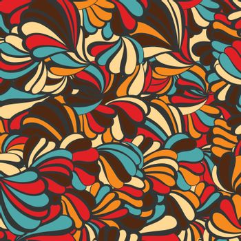 sea shell vector pattern on a background. EPS illustration.