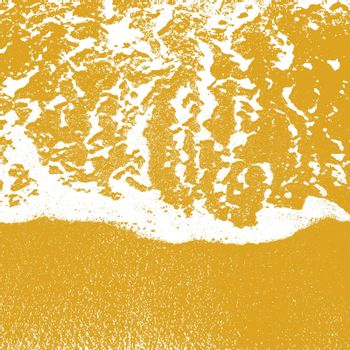 Sea shore texture line water foam over clean sand. Vector illustration.