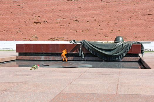 Eternal Flame, Tomb Of The Unknown Soldier to Moscow. Kremlin, Russia