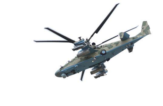 Russian helicopter Ka-52 (alligator).
