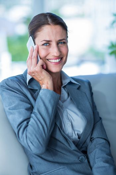Businesswoman having a phone call