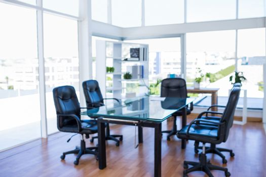 Meeting room with back swivel chair