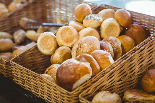 Basket filling with delicious bread