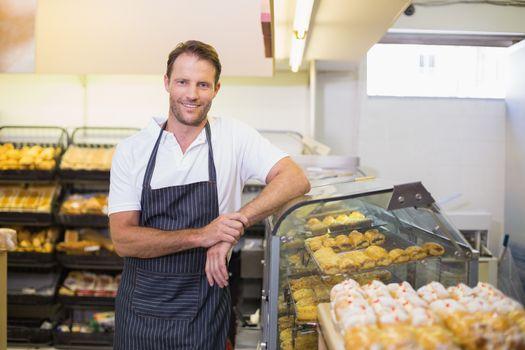 Portrait of a smiling baker
