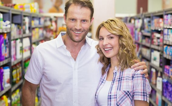 Portrait of smiling casual couple