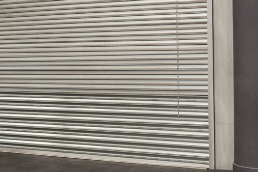 Closed grey shutters