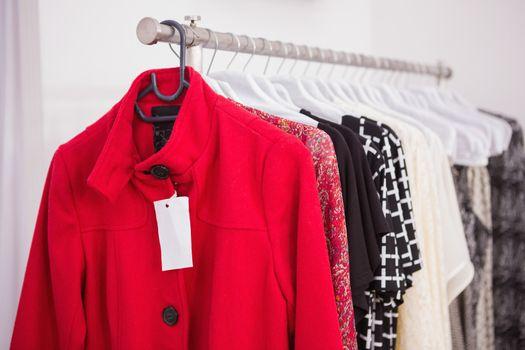 Hanging red coat
