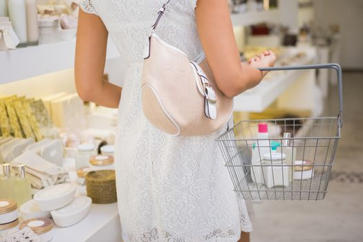 Woman browsing products