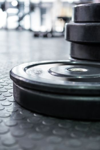 Close up view of weights