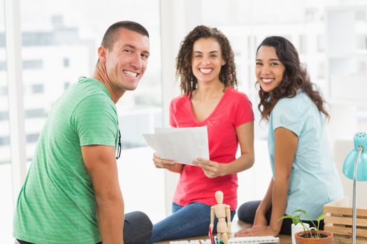 Casual business team having meeting