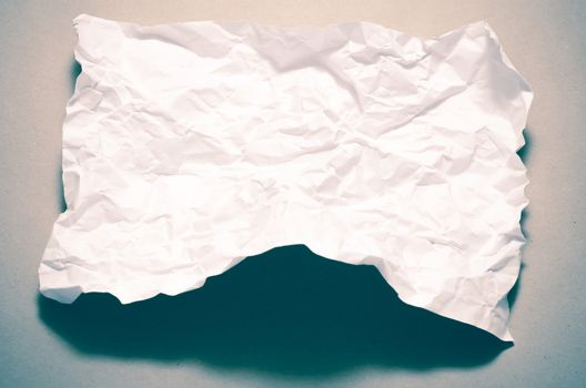 a4 size white crumpled paper