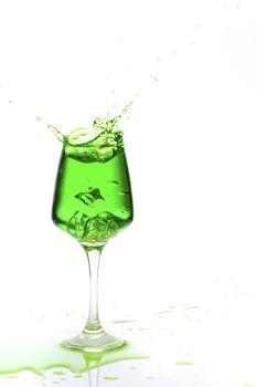 splashing champagne