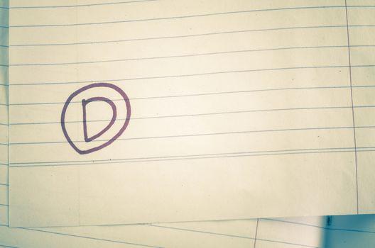 grade d