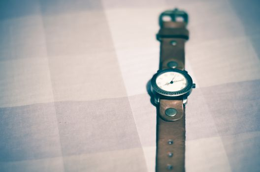 classic Wristwatch on brown tone