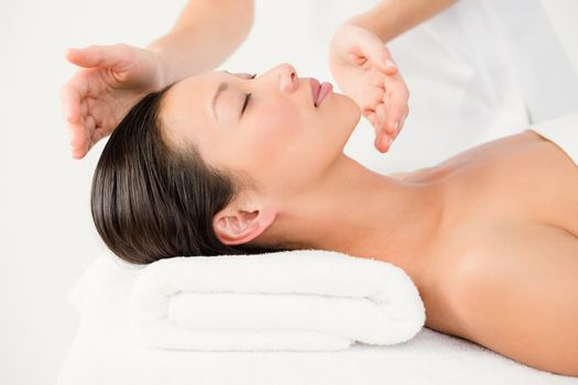 Woman receiving an alternative therapy