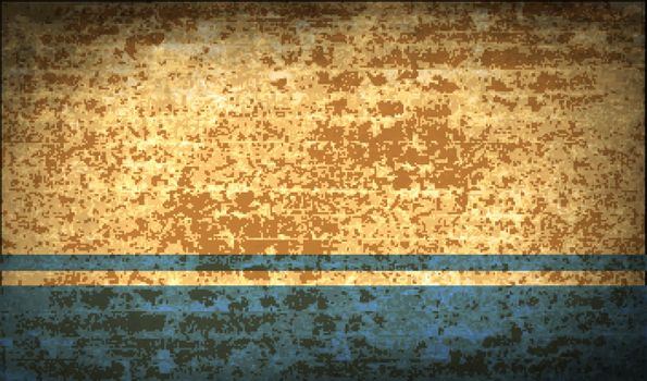 Flags Altai Republic with dirty paper texture. Vector