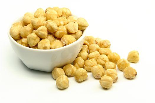 Hazelnuts in Bowl