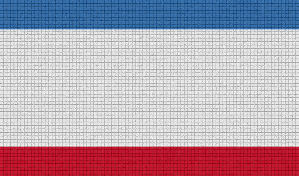 Flags Crimea with abstract textures. Rasterized
