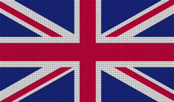 Flags United Kingdom with abstract textures. Rasterized