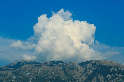 Picturesque clouds over the mountains, Montenegro, Balkans