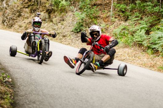 Diogo Gomes drifting during the 2nd Newton's Force Festival 2014