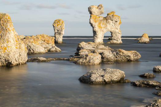 Sea Stack at Fårö, Gotland in Southern Sweden
